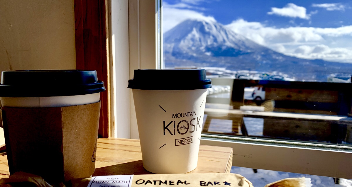 The Little Coffee Shop with The  BIG View! In Niseko, Hokkaido, Japan
