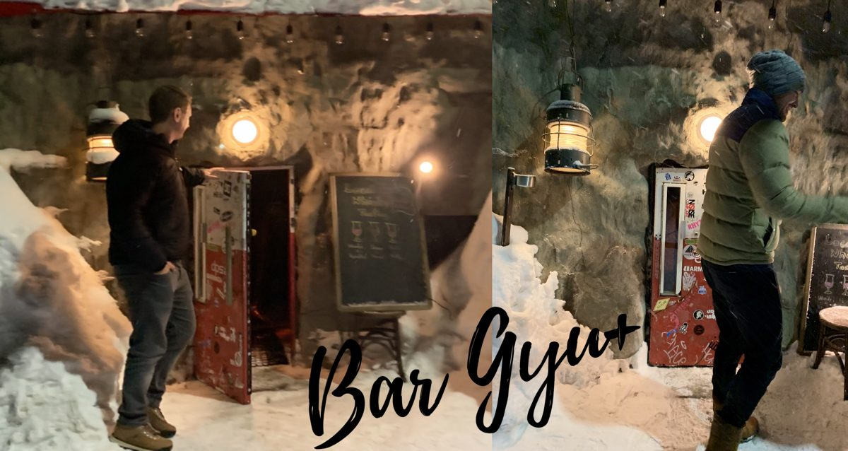 Drink in Hobit Style at Bar Gyu+ in Niseko